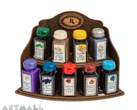 Display 9 ink bottles 50cc with scented ink, assorted colors