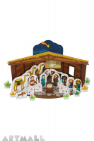 Nativity Paper Toy, size: 23 x 13 x 13 cm