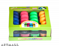 90059- Sharpener & Eraser - Oval multi purpose, DIS(20)