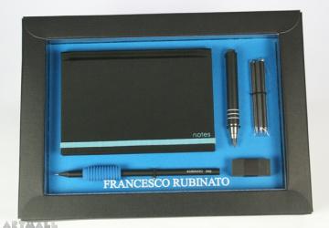 Gift set for scketching, blue color