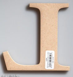 """Wooden Letter """"L"""""""
