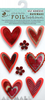 Foil Printed Heart 8Pc Mini Embellishment