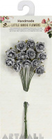 Metallic Curly Rose 20mm Silver 12Pc
