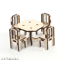 Mini wooden furniture - dining room