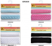 Crochet Lace Trims 2 mtr, 4 types assorted
