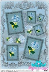 Hydrangeas in lace frame