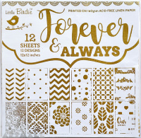 Forever & Always 12x12inch, 12sheets Pattern Paper