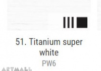 Oil for ART, 51. Titanium super white 140 ml