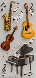 """3D Stickers """"Musician"""""""