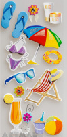 "3D Stickers ""Beach set"""