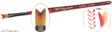 "Brush ""Dovetail"", flat, synthetic №07"