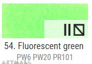 A'KRYL Fluorescent color, Green 100 ml