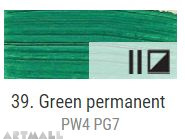 Oil for ART, Permanent green 60 ml.
