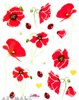 "Stickers ""Red Poppy"""