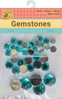 Gem Stones 8,12,20mm 5gms Each Blue