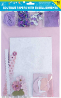 Specialty Paper Pack With Floral Purple