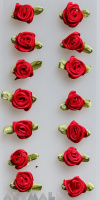 "3D Stickers ""Red Rose"""