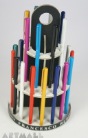 Display with 24 ballpens cm 12 in asorted colors