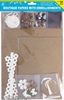 Specialty Paper Pack With Floral Kraft & Ivory