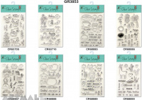 Clear Stamps, 8 types assorted