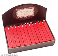 Wax sticks, red, 36 pcs