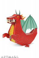 "Paper Toy ""Red Dragon"""