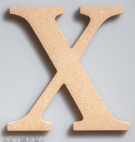 "Wooden Letter ""X"""