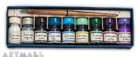 Writing set 9 inks 10 cc cold colors