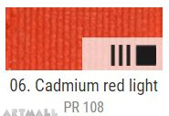 EXTRA Oil paint , Cadmium red light, 20 ml