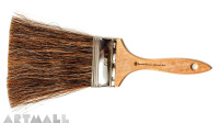 Brushes, horsehair, wood unpolished handle, size 80