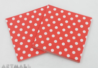 "Paper napkins for decoupage ""Red"""
