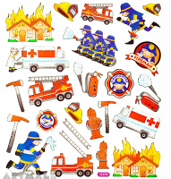 "Stickers ""Firefighter"""