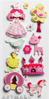 "3D Stickers ""Princess"""