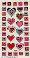 "Stickers ""Mirracle Hearts"""