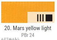 EXTRA Oil paint , Mars yellow light, 20 ml