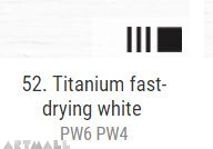 Oil for ART, Titanium fast-drying white 20 ml.