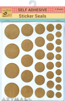 Sticker Seals Self Adhesive Kraft  4sheet