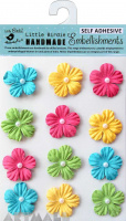 Embossed Jewelled Daisies Candy Crush 20 Pc