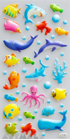 "Stickers ""Water World"""