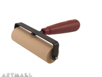 Soft Rubber Brayer 10.16 cm. Heavy Duty Steel Frame, Plastic Core