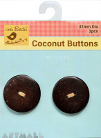 Coconut Button Large 2 Hole 2Pc