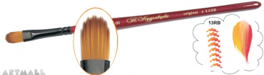 Oval figured brush synthetic №13