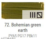 Oil for ART, 72.Bohemian green earth 60 ml.