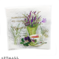 "Paper napkins for decoupage "" Romantic morning"""