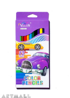 77006- 12 color pencils, violet