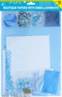 Specialty Paper Pack With Floral Blue