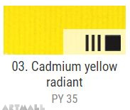 EXTRA Oil paint , Cadmium yellow radiant, 20 ml