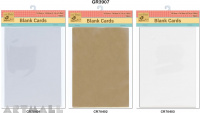 Blank Cards pack of 10 pcs, 10.5x14.8 cm, 3 types assorted colours