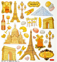 "Stickers ""Romantic Paris"""