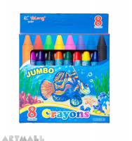 "95003-8- ""Jumbo Crayons"" 8 color"